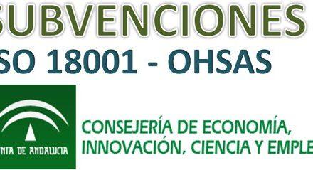 Subvenciones a Pymes y Autónomos Ohsas 18001: Andalucía