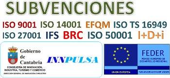 50% Subvención Normas ISO CANTABRIA