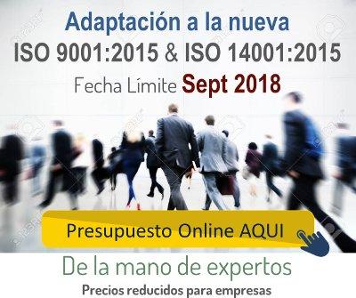 Presupuesto Online Adaptación ISO 9001:2015