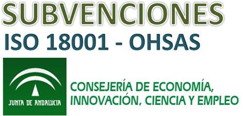 Subvenciones Pymes y Autonómos OHSAS 18001: Andalucía