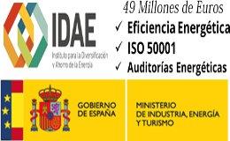 49 Millones para Implantar ISO 50001, Auditorias Energéticas y Mejoras en eficiencia Energética