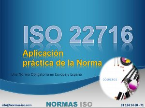 ISO 22716 PDF : Aplicación práctica de la norma